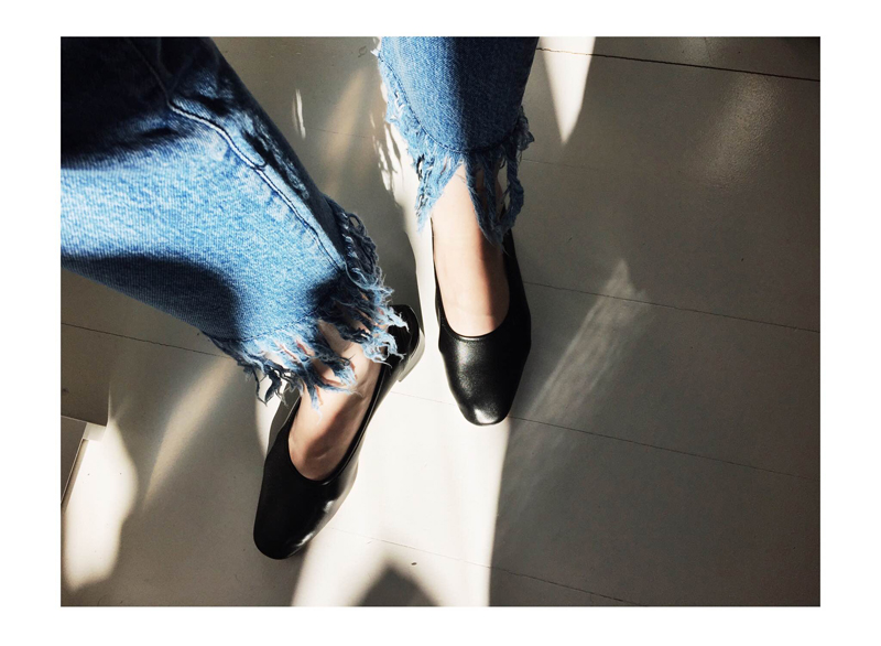 3x1 fringe jeans and Maryam Nassir Zadeh Roberta Heels