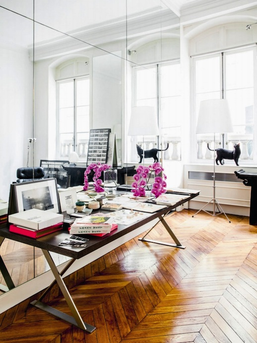 Gaia Repossi's Paris apartment via fashionsquad.com