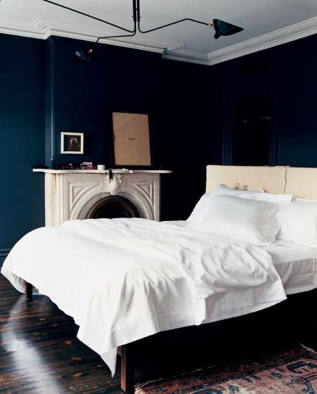 Jenna Lyons bedroom via fashionsquad.com