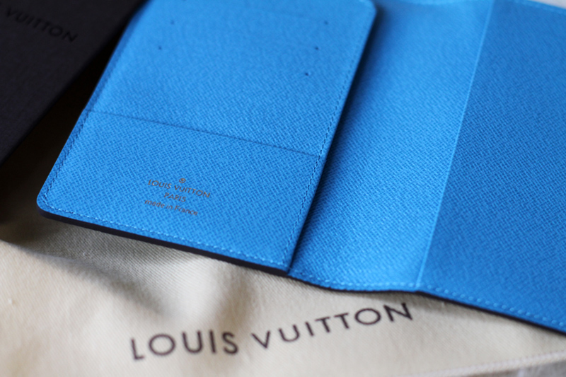louis vuitton, personalized, passport cover, initials, monogram