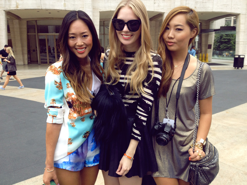 aimee song carolina engman dani song new york fashion week fashionsquad songofstyle
