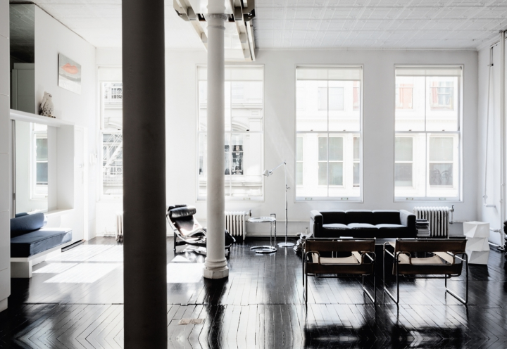 airy NYC loft via fashionsquad.com