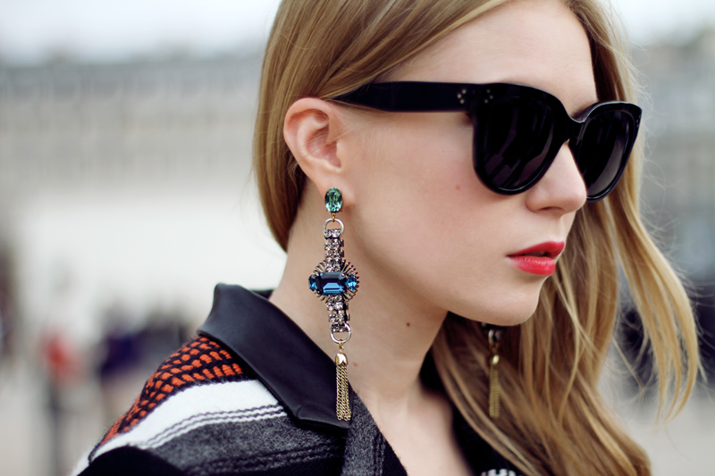 anton heunis, earrings, carolina engman, fashionsquad, statement earrings, celine audrey sunglasses, maje, paris