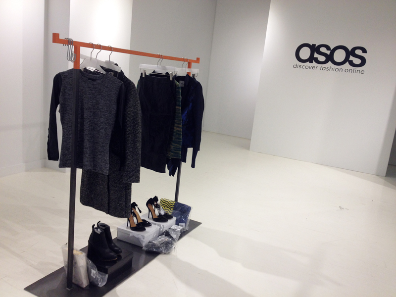 asos showroom, new york, backstage