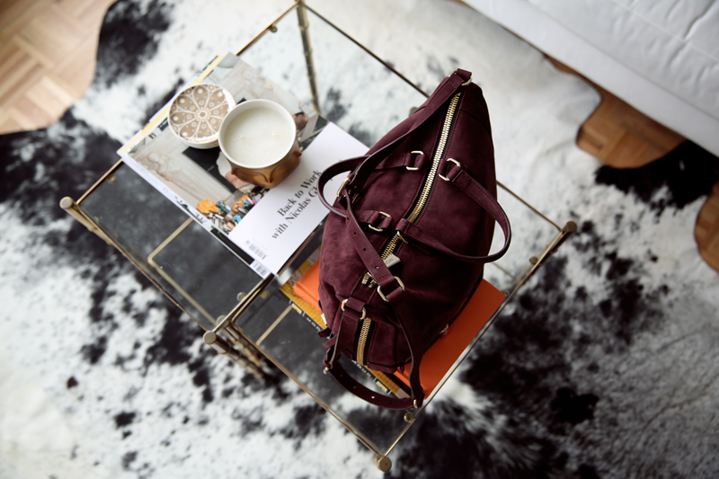 botkier honore hobo in wine via fashionsquad.com