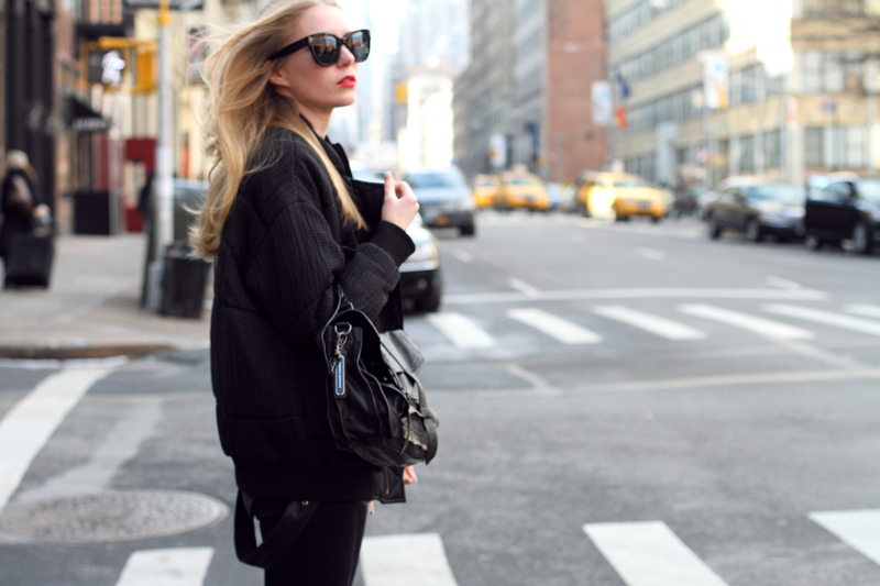 carin wester, bomber jacket, din sko boots, proenza schouler ps1 medium black, leather vest, celine audrey sunglasses, fashionsquad, nyfw, streetstyle, carolina engman