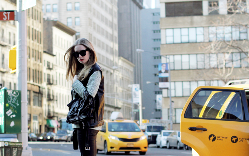 carolina engman, new york, leather vest, andemiu, sigerson morrison brielle, nyfw, proenza schouler ps1 medium black