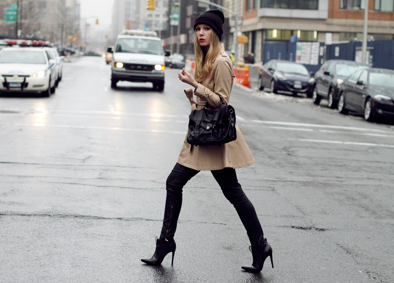 carolina engman, andemiu trench coat, proenza schouler ps1 medium, asos beanie, fashionsquad, new york, nyfw