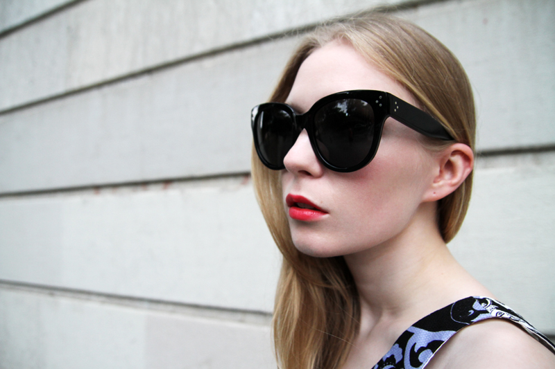 celine audrey large sunglasses, carolina engman, fashionsquad