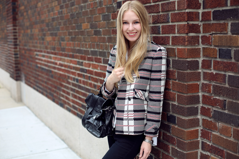 carolina engman checked zara jacket