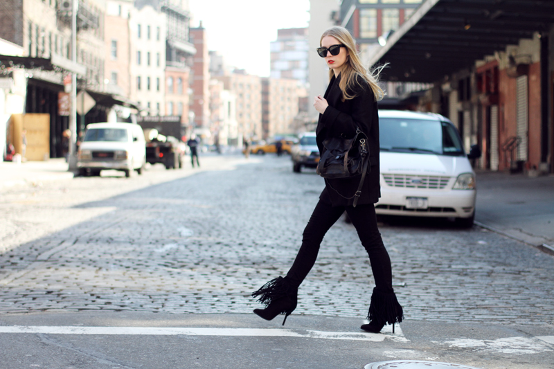 carolina engman, fringe boots, zara, proenza schouler, celine audrey sunglasses, fashionsquad, new york