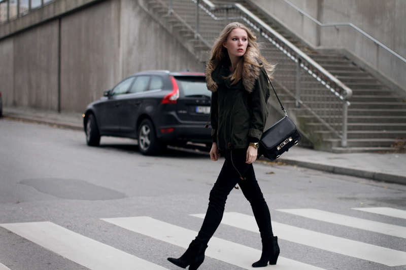 carolina engman, fashionsquad, outfit, parka, j brand jeans, proenza schouler ps11, sigerson morrison risaly boots