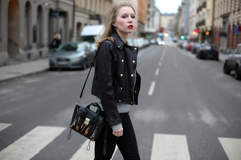 carolina engman in hunkydory leather jacket