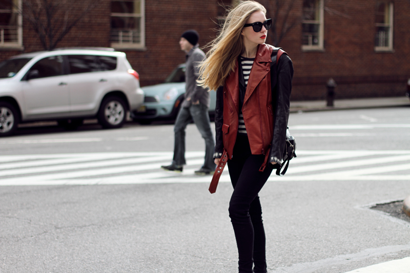 carolina engman, fashionsquad, acne, leather jacket, celine audrey sunglasses
