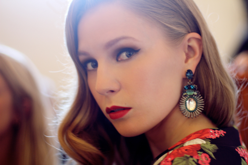 carolina engman, fashionsquad, makeup, hair, photoshoot, my-wardrobe, anton heunis earrings, statement earrings