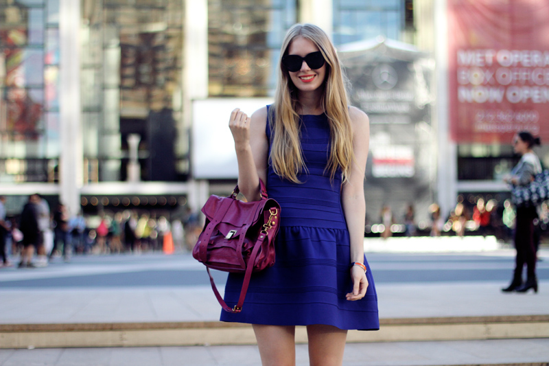 carolina engman, maje dress, proenza schouler bag, celine audrey sunglasses