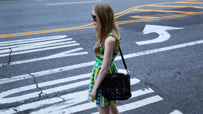 carolina engman msgm dress and proenza schouler bag