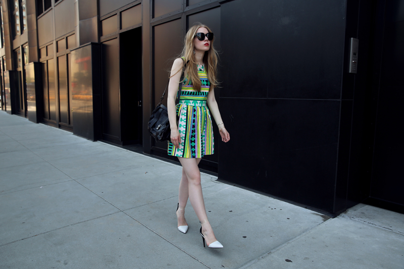 msgm ikat print dress via fashionsquad
