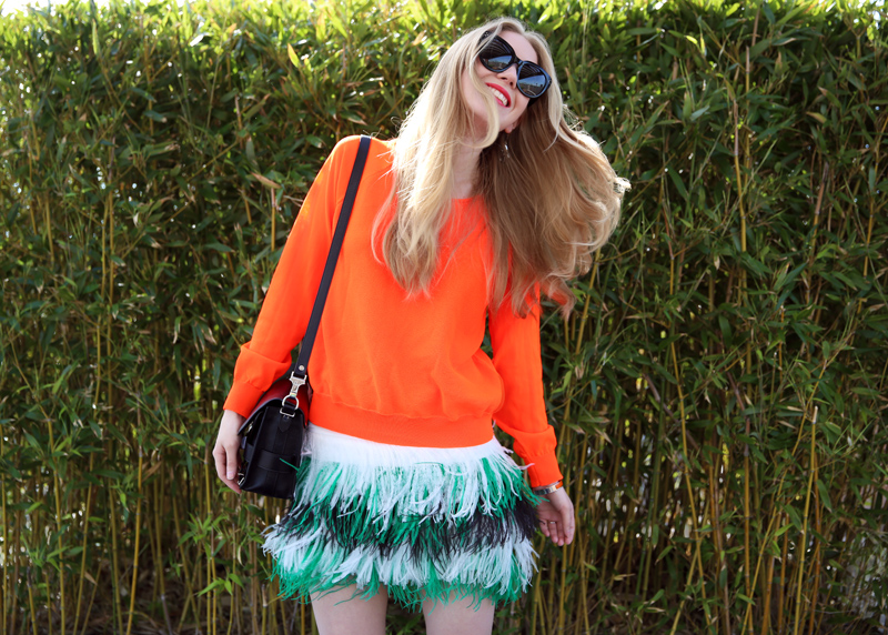 carolina engman msgm feather skirt