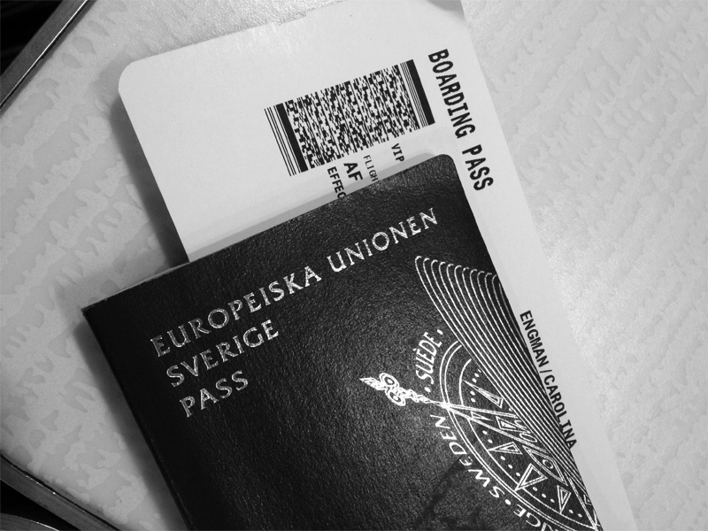 passport, boarding pass