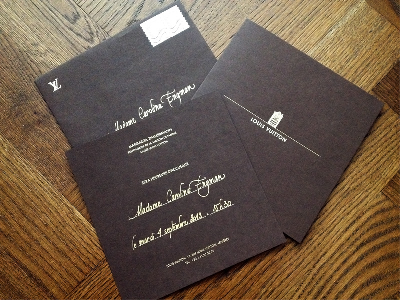louis vuitton, invite, Asnires-sur-Seine, workshop, carolina engman, fashionsquad