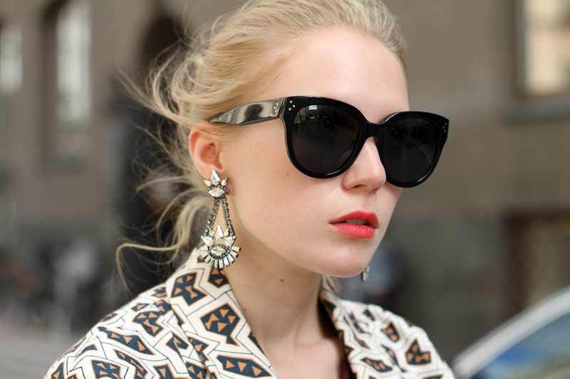 Carolina Engman, fashionsquad, dagmar, zara leather skirt, bimba y lola, michael kors gold watch, celine sunglasses, elizabeth cole, back stage*, carvela,