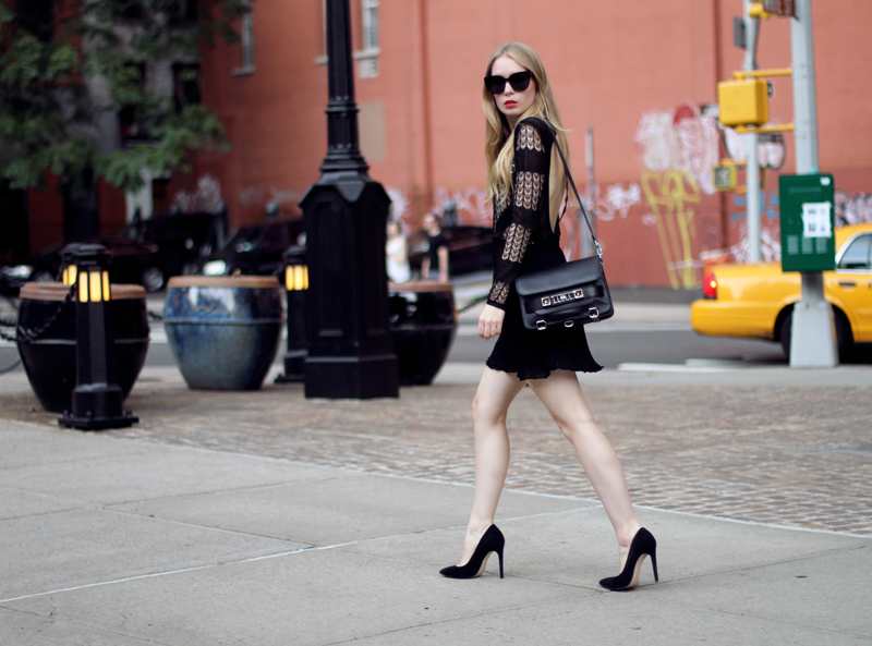 dagmar, lace dress, celine audrey sunglasses, proenza schouler, ps11, carvela, little black dress, carolina engman, fashionsquad