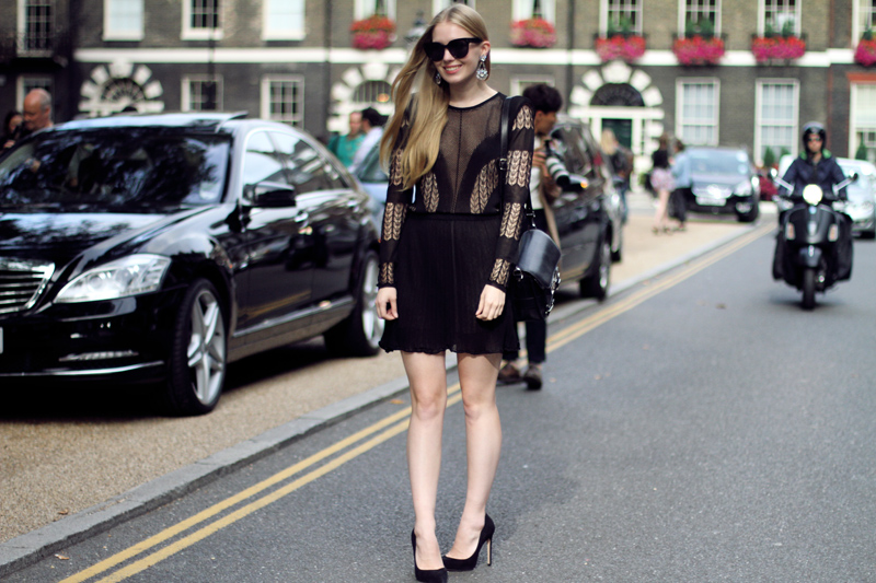 carolina engman, fashionsquad, dagmar, lace dress, proenza schouler ps11, celine audrey sunglasses, carvela attack black, london, fashion week