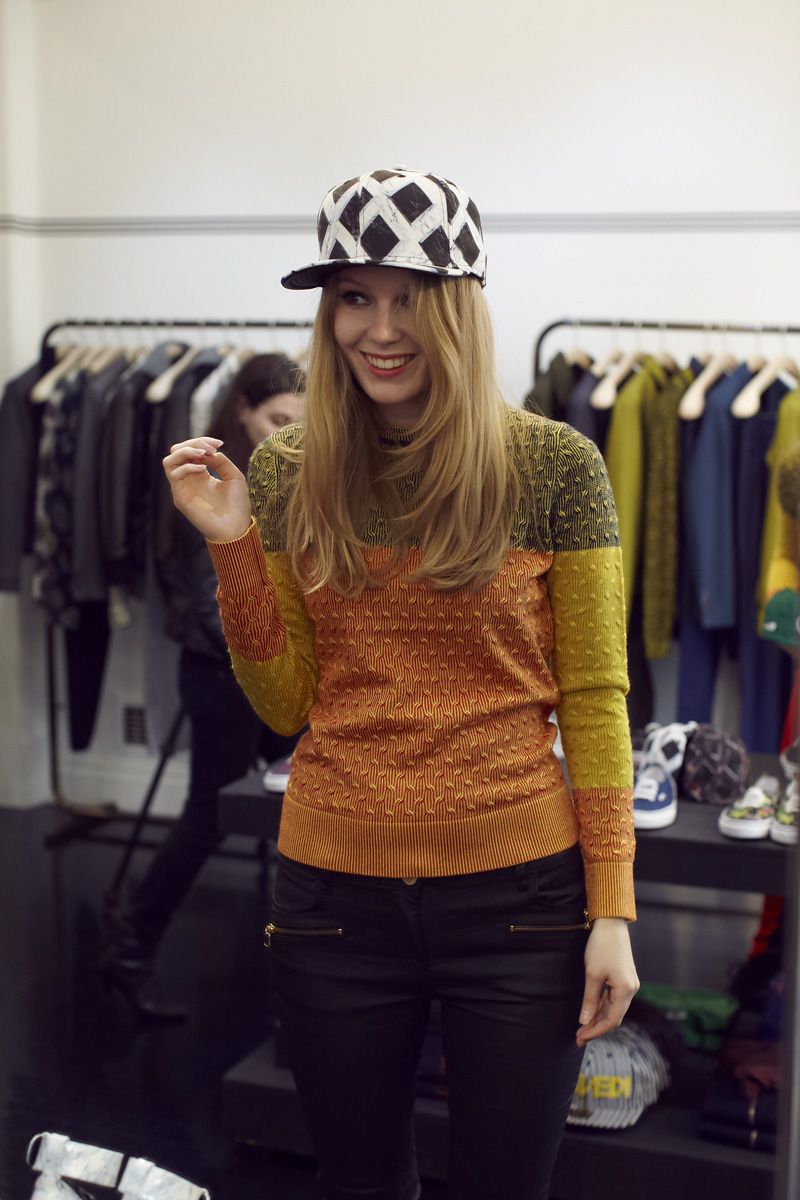 Kenzo, Carolina Engman, london, fashionsquad, kenzo sweater, kenzo hat