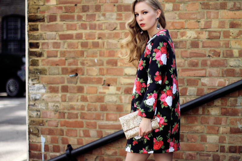 msgm, floral coat, scuba, anya hindmarch, glitter clutch, mawi earrings, my-wardrobe, carolina engman, fashionsquad