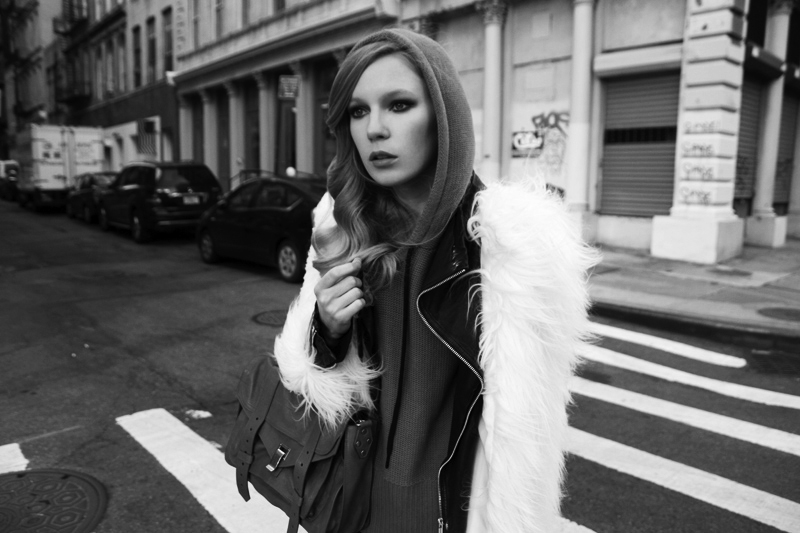 carolina engman, new york, proenza schouler ps1, white faux fur