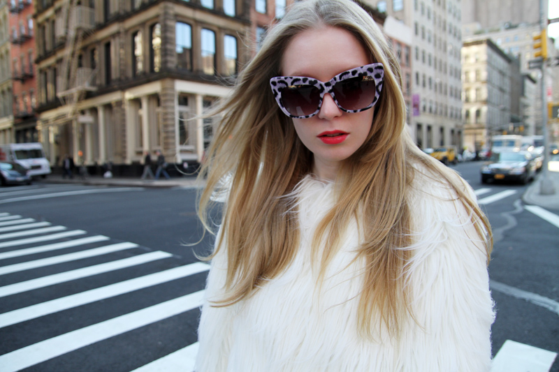 carolina engman, anna karin karlsson sunglasses, zara faux fur