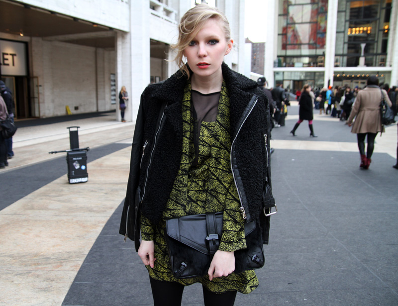 Carolina Engman, rebecca minkoff fur leather bag, rebecca minkoff jacket, nyfw, new york fashion week, rebecca minkoff