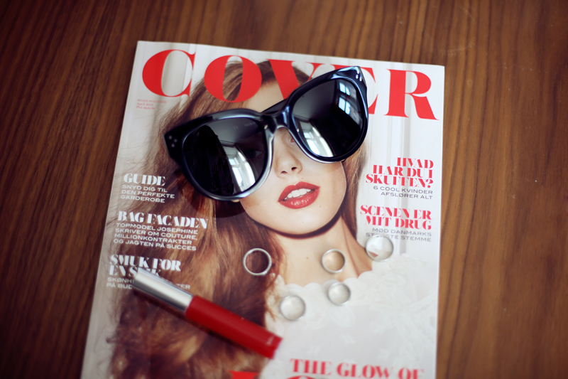 celine audrey sunglasses, cover magazine, stack rings, lipgloss