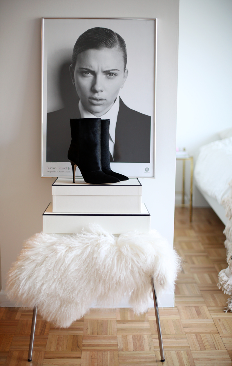 Emerson Fry pony hair boots via fashionsquad