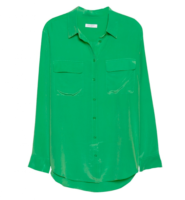 equipment signature shirt in fern green, emerald green, pantone, color of the year 2013