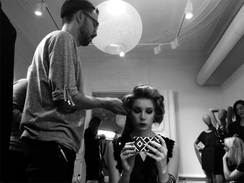 carolina engman, backstage, gina tricot, hair, makeup, photoshoot, model