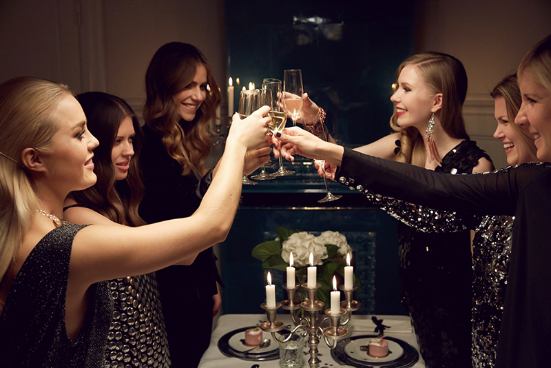 gina tricot, marcella mravec, angelica blick, trines wardrobe, carolina engman, new year, dinner
