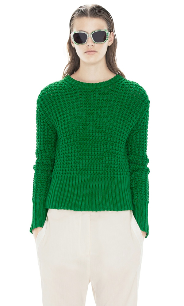 acne green sweater, emerald green, kelly green, pantone, colour of the year 2013