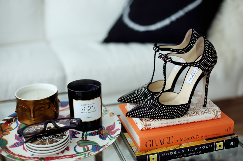 Jimmy Choo talan heels in Carolina Engman's NY apartment