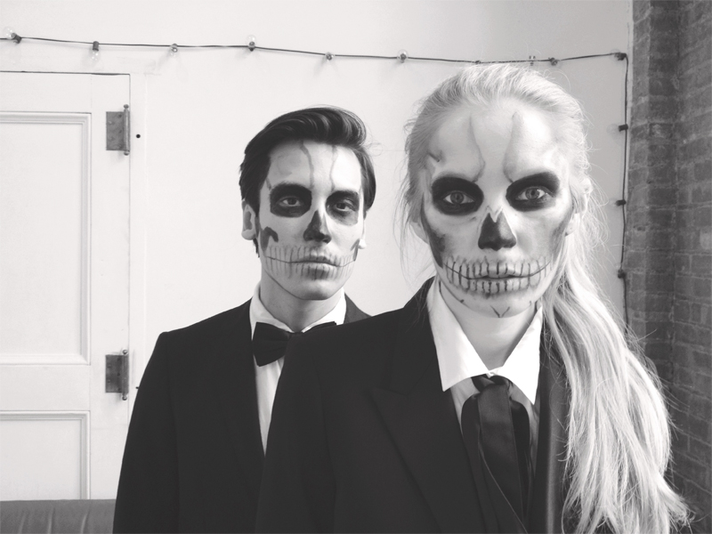 lady gaga skull makeup via fashionsquad
