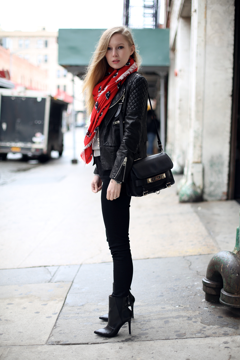 leather jacket via fashionsquad