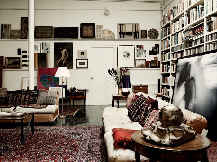 an artist home in Barcelona (via fashionsquad.com)