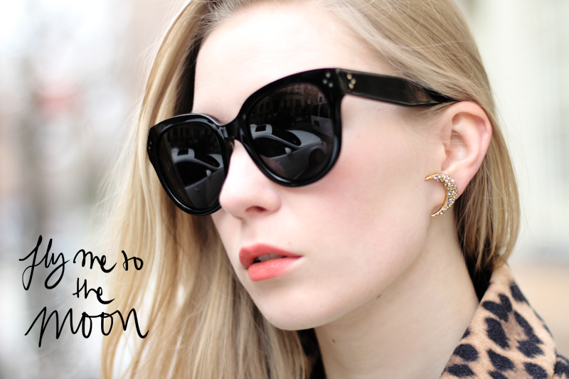 carolina engman, lizzie fortunato, moon earrings, celine audrey sunglasses, fashionsquad