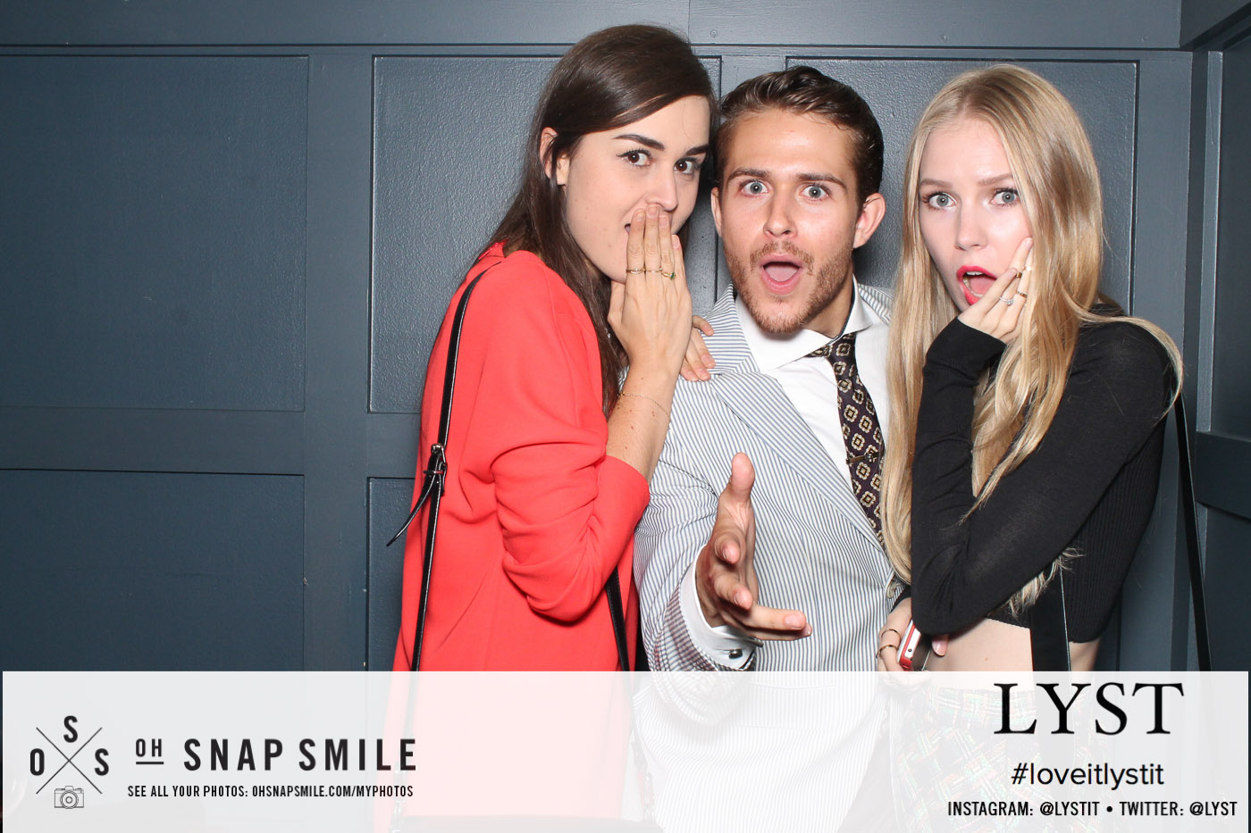Andy, Adam & Carolina at the Bloglovin party