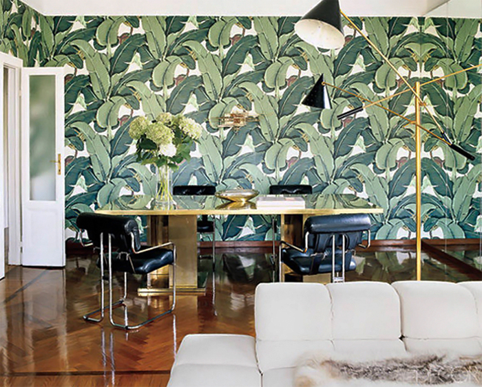 martinique banana leaf wall paper