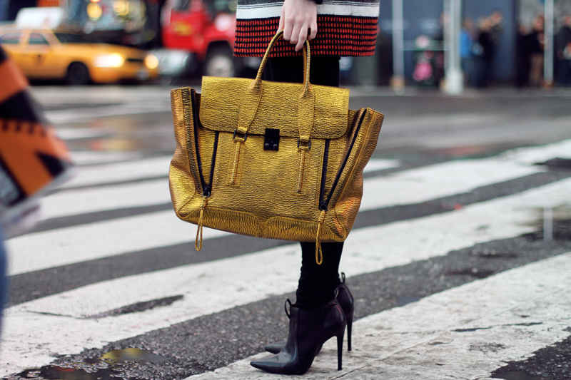 carolina engman, fashionsquad, new york, times square, maje, phillip lim pashli gold