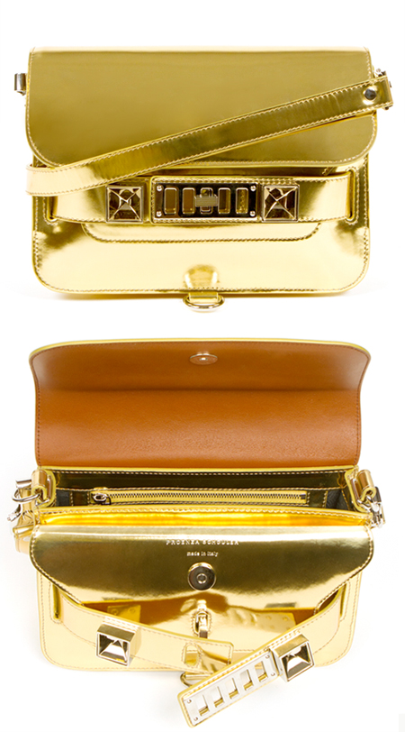 proenza schouler, ps11 mini, gold, opening ceremony, exclusive, fashionsquad, carolina engman