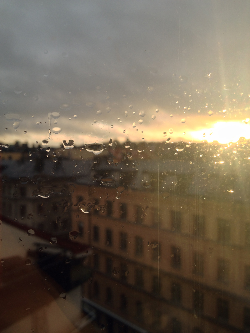 rainy sunset via fashionsquad
