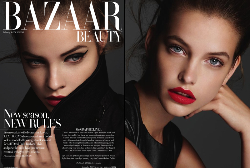 red lipstick, harpers bazaar beauty, beauty editorial,